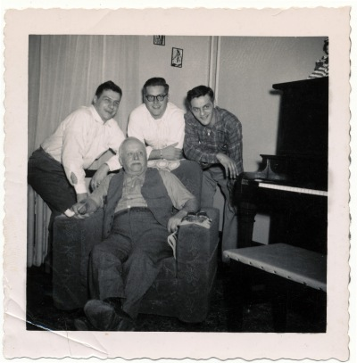 Leon Genetti with three sons: John, Joseph, Leon