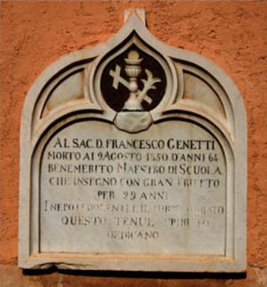 Tombstone of Don Francesco Genetti