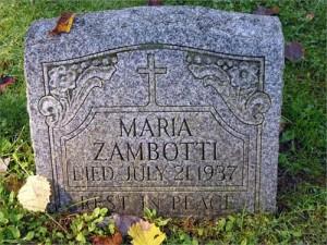 Maria (Genetti) Zambotti: 1859 - 1937