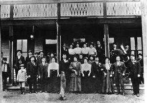 Photo taken in 1906, probably in Nuremberg, PA.