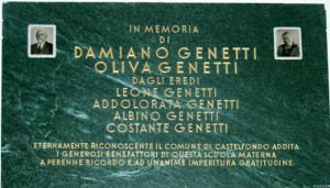 Plaque in San Nicolo Kindergarten