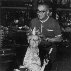 Dora Genetti crowned Polenta Queen