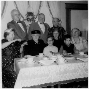 Family gathering Jan 16, 1957