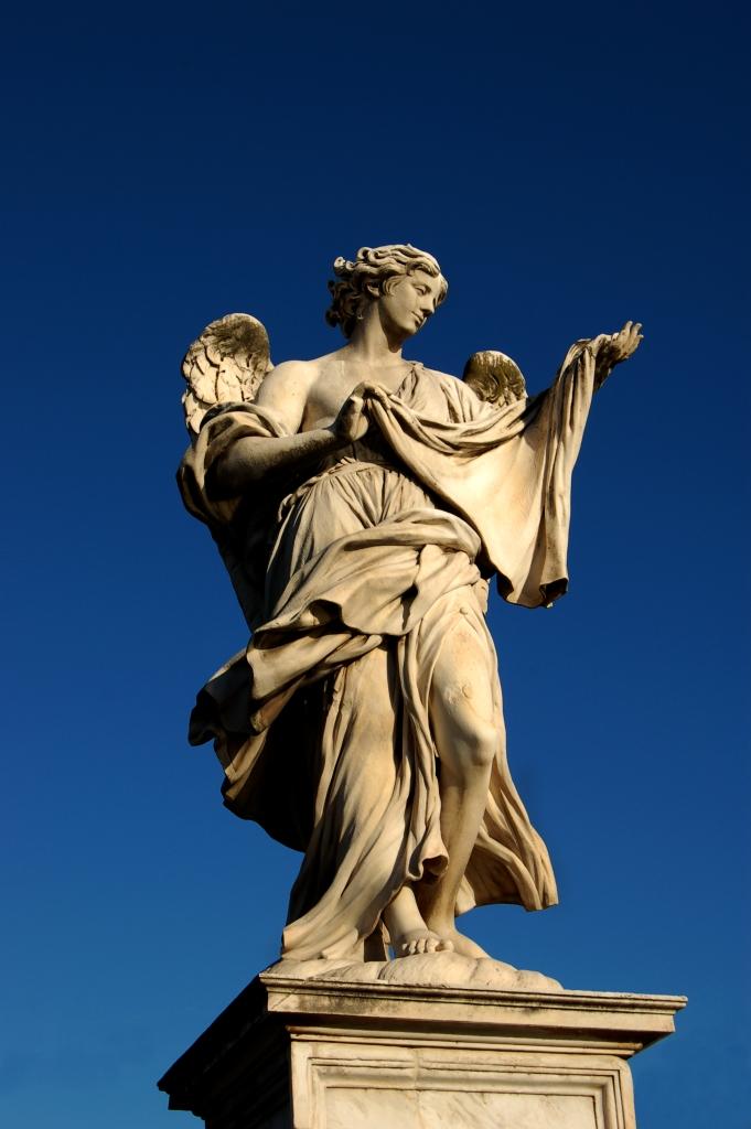 Sant Angelo Bridge, Rome, Angel with the Sudarium