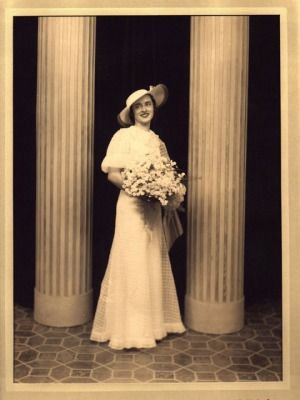 1935 - Betty's Wedding Photo