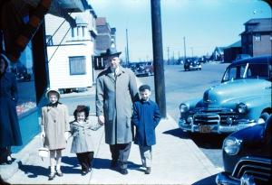 Cousins Margaret, Sandra and Arthur with Stephen Farkus