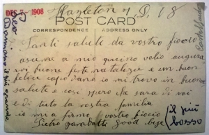 Postcard sent to Castelfondo, Italy