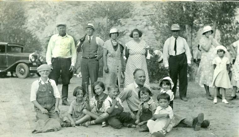 Family picnic, LaBarge, Wyoming