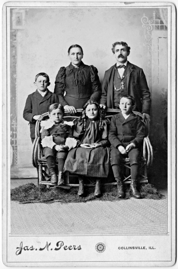 Vigilio and Maria Genetti with family