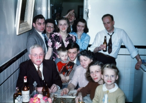 Family of Leone and Angeline Genetti, Christmas 1947